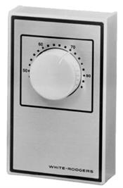 White-Rodgers / Emerson 1A65641 Line Voltage Wall Thermostat, 40F to 85F