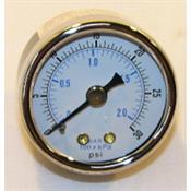 "Honeywell, Inc. 305965 INDICATION GAGE. 1-1/2"" DIAMETER. 1/8"" NPT. CENTER BACK CONNECTED. 0 TO 30 PSI."
