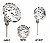 "Weiss Instruments, Inc. 3BMS4 BIMETAL DIAL THERMOMETER - Model 3BMS, 3"" Straight"