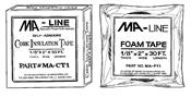 "Monti & Associates, Inc. Div. of MA-Line MACT1 1/8"" x 2"" x 30 ft. Cork Insulation Tape, 12/pack"