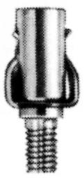 Crown Engineering Corp. 51730 Ignition Terminals, Spring/Stud 10-32 Thrd. 3/8 Long Stud