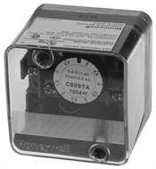 Honeywell, Inc. C6097A1053 Pressure Switch, 3  to 21 in. w.c.