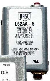 BASO Gas Products LLC L62AA5C SAFETY PILOT SWITCH MANUAL RESET NO