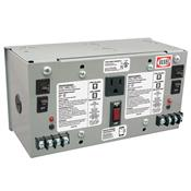 Functional Devices (RIB) PSH100A100AB10 Enclosed Dual 100VA 120 to 24Vac UL class 2 power supply 10A main breaker