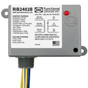 Functional Devices (RIB) RIB2402B Enclosed Relay 20Amp SPDT 24Vac/dc/208-277Vac