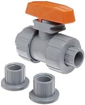 Hayward Industrial Products, Inc. TB2050ST 1/2 S&T CPVC DBL UN BALL VALVE