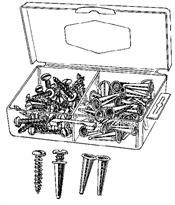 "Monti & Associates, Inc. Div. of MA-Line MA8410 3/16"" x 3/4"" Plastic Anchor Kit includes"
