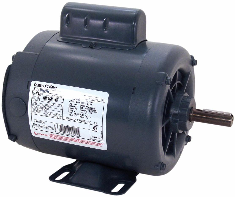 A O  Smith Corporation C621 1-1/2 HP Century Single Phase Motor,  208-230/115 V