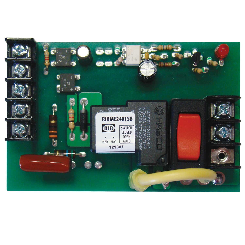 RIBM24C Panel Relay 4.00x1.25in 15Amp SPDT 24Vac//dc Functional Devices RIB