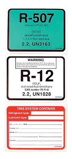 DiversiTech Corporation 04870 Polyol Ester Oil Labels at Controls