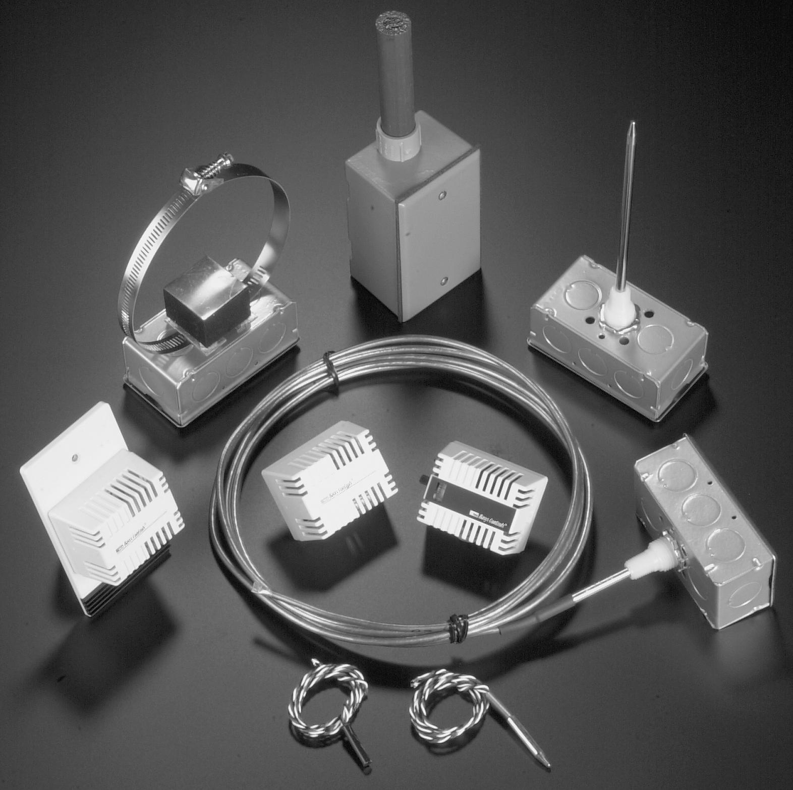 TCS Basys Controls Temperature Sensor 8 Inch Duct Mount 1K Platinum RTD #TS1002