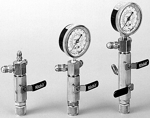 Yellow Jacket 93852 Evacuation Manifolds Single Valve with Lo-Side Gauge Mount with 3//8 Female Flare